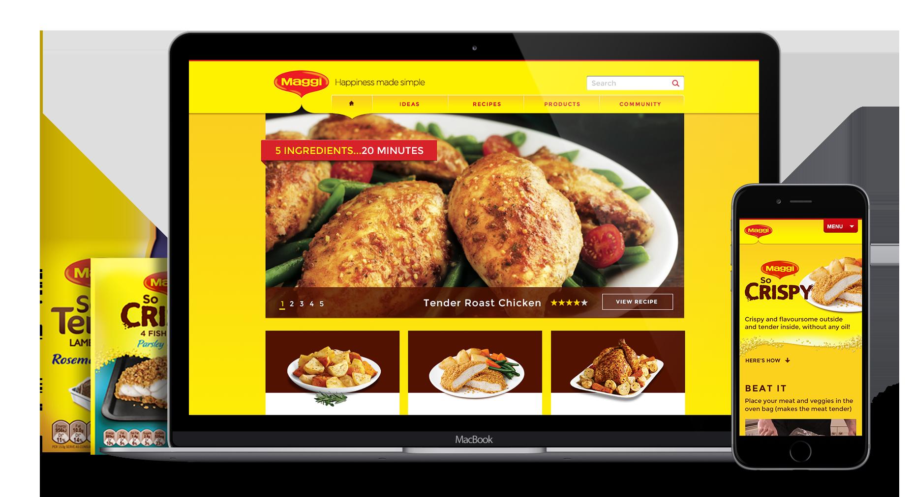 Maggi website